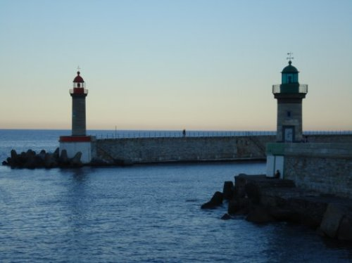 Bastia harbour lights