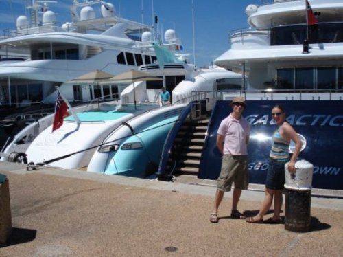 Jonna, Jarkko and the yachts (not theirs)