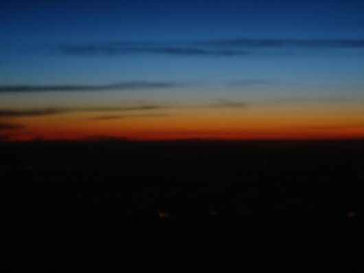Night sky from plane