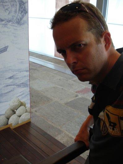 Fooling around at the Genoa MaritimeMuseum