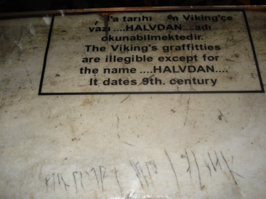 Viking graffiti in HagiaSofia