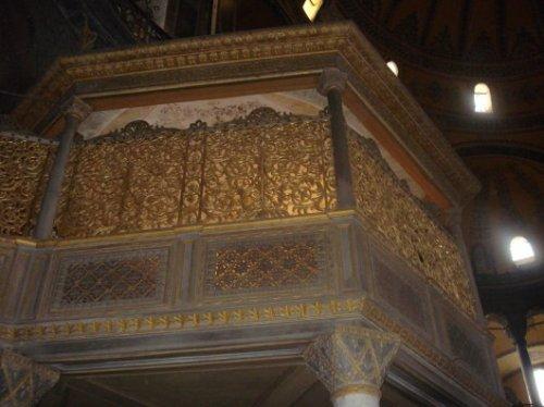 Sultan's loge in HagiaSofia