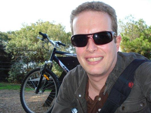 Martin with rentedbike