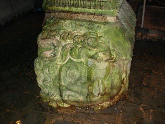 Medusa head in the BasilicaCistern