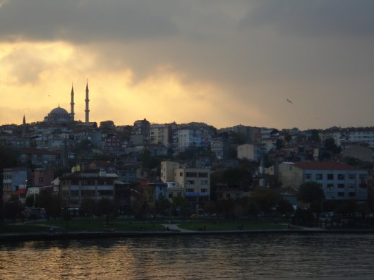 Evening view inIstanbul