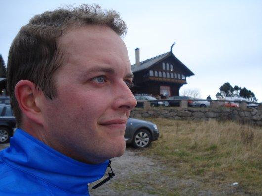 Sweaty cyclist atFrongersetern