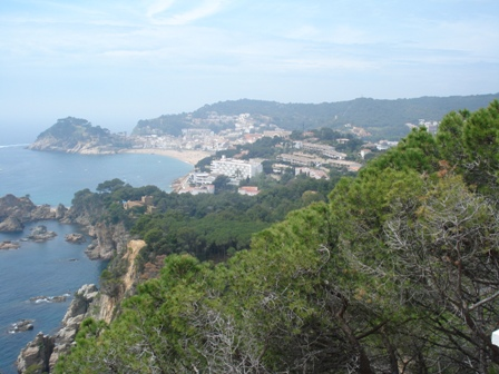 Nice scenery leaving Tossa de Mar