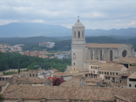 View over Girona from the city wall