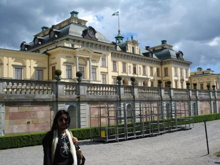 Ellie at Drottningholm Palace