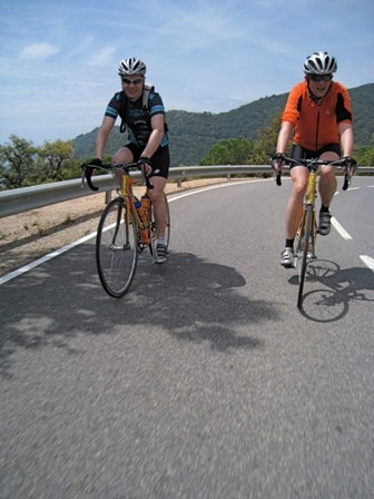 Tero and Martin on the coastal road