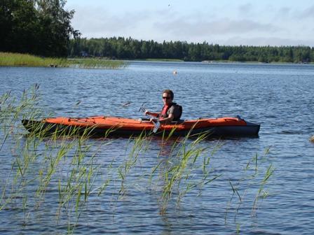 I had the time to kayak araund the island too