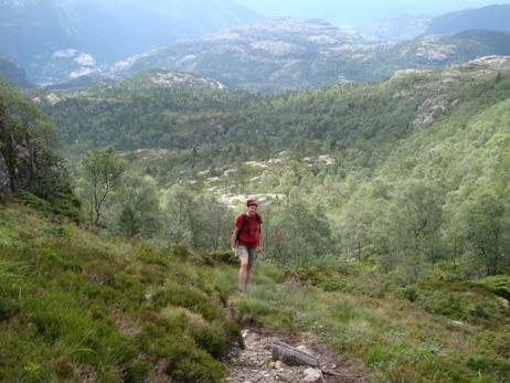 Martin ascending Moslifjell