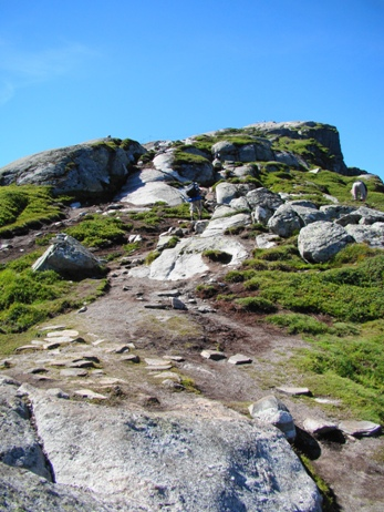 The hike is long and in many places steep