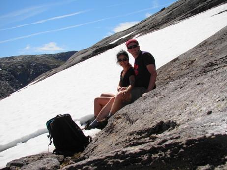 Mid-July and snow at Kjerag