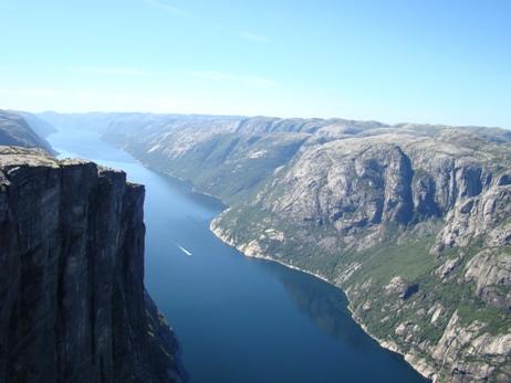 Lysefjorden seen from Kjerag
