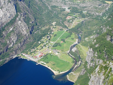 Lysebotn as seen from Kjerag
