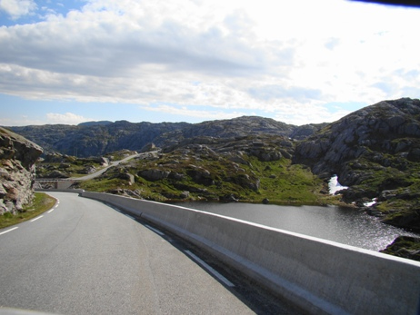 The road from Lysebotn to Sirdal