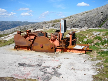 The Siemens engine that pulled the goods wagon up the mountain