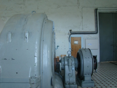 The old generators at the Flørli power plant