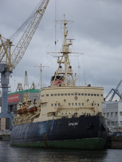 The classic icebreaker Krasin