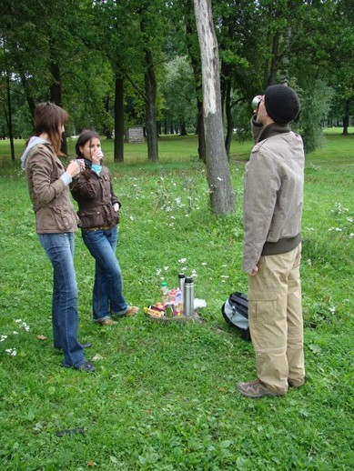 Picnic in Strelna with Lena, Lena and Ivan