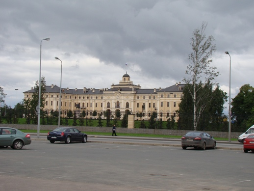 Strelna close to Peterhof, destroyed by the Germans and rebuilt by Putin