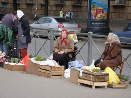 Pensioneers selling of their small crops