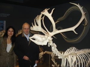 Ellie and my father at the Zoological Museum