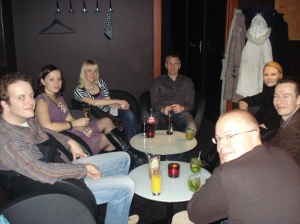 Drinks with Jonna, Jarkko & friends at Groteski