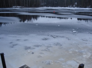 Kuusijärvi was icy and cold